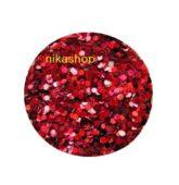 hexagon malý červený HOLOGRAFIC