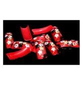 Zdobené tipy - červený KVET 70ks + box