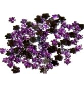 Štrasové kamienky fialový kvietok