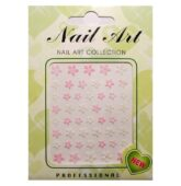 PN nálepky nail art hviezdicová kvetinka ružová