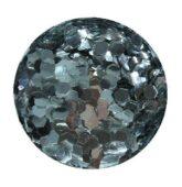 hexagon stredný strieborný HOLOGRAFIC