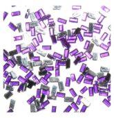 Štrasové kamienky fialový obdĺžnik