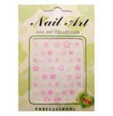 PN nnálepky nail art ruža ružová