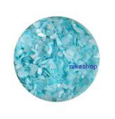 Crushed shells -Drvené mušle modrá light