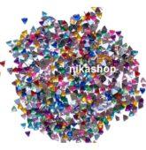 Štrasové kamienky -trojuholnik MIX color