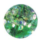 hexagon stredný transparent.zelený