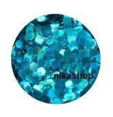 hexagon stredný modrý HOLOGRAFIC