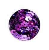 Konfety fialový kvietok s dierkou HOLOGRAFIC