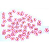FIMO flower pink light