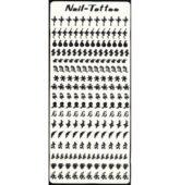 Nálepky sticker decal LION -ČIERNE TN-44