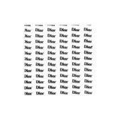 Nálepky logo Dior - strieborné