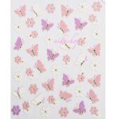 nálepky E - motýle & kvety