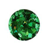Konfety zelené srdce HOLOGRAFIC tmavé