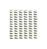 Nálepky logo Dior - zlaté