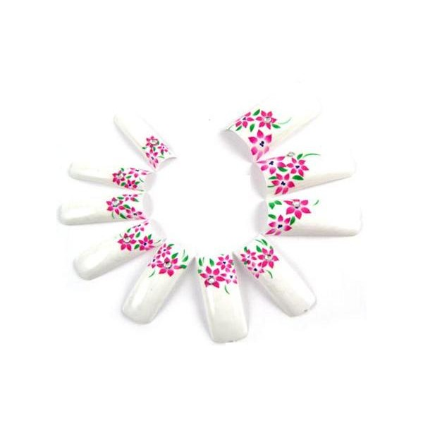 Art Tips Francúzska biela - Flower pink 70ks + box