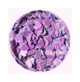 Konfety fialové srdce lila