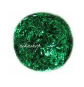 Triesky zelené holografiké krátke