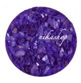 Crushed shells -Drvené mušle fialová tmavá
