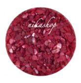 Crushed shells -Drvené mušle red/pink