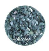 Crushed shells -Drvené mušle modrá dora
