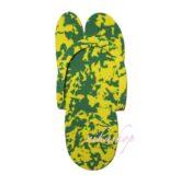 Rýchlo šlapky BATIK zeleno-žlté