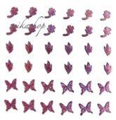 Nálepky ružové holografické 2