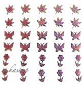 Nálepky ružové holografické 3