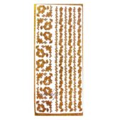 Nálepky sticker decal - ZLATÉ METALIC 1815