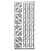 Nálepky sticker decal -STRIEBORNÉ METALIC 1815