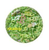 Konfety zelená hviezda obrys