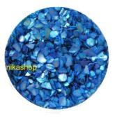 Crushed shells -Drvené mušle modrá tmavá
