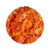 Konfety oranžové srdce 1