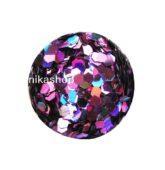 hexagon stredný fialový HOLOGRAFIC-9346