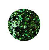 hexagon malý zelený HOLOGRAFIC tmavý-9368